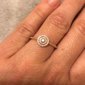 Pandora Elegant Sparkle Ring 7.5